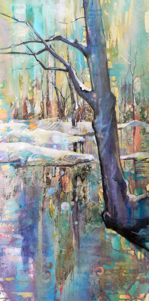 Mixed-media artwork Ice Dream by Marty Husted