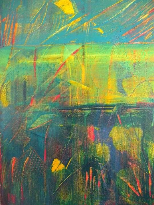 Acrylic painting Wetlands by Gordon Sellen
