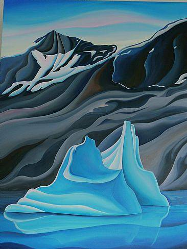 Oil painting Iceberg Waltz, 2008 by Linda Lang