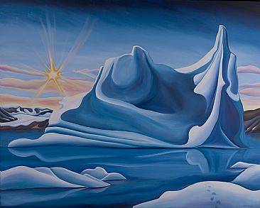 Oil painting Climate of Hope, 2008 by Linda Lang