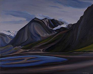 Oil painting Glaciers Go Green, 2008 by Linda Lang