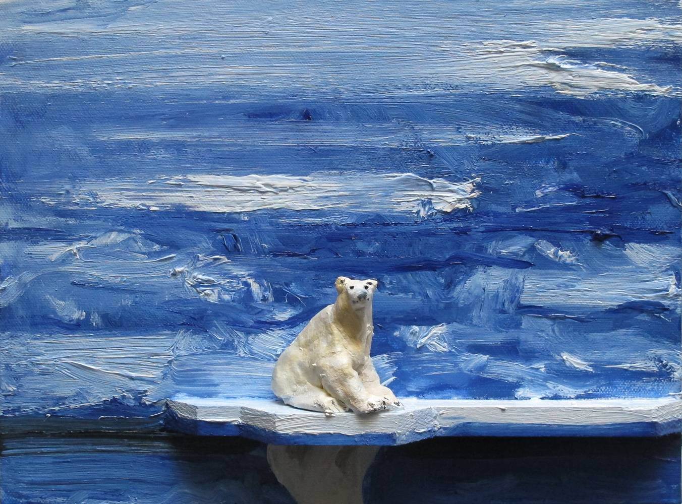 Oil painting Polar Bear #1, 2013 by David  Maxim