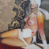 Oil painting My nude night by Timothy Innamorato