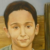 Oil painting lil Tim by Timothy Innamorato