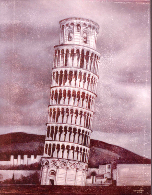 tower of pisa by Timothy Innamorato