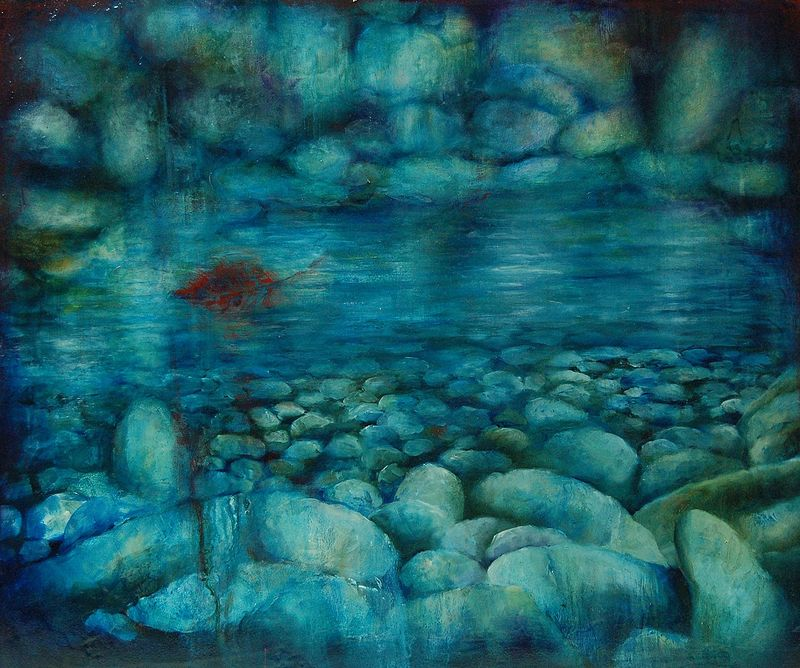 Oil painting Water Blues I by Liba Labik