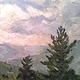 View from Tim's 6x12in oil by Michael Gaudreau