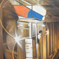 Oil painting sub kidney bean light by Timothy Innamorato