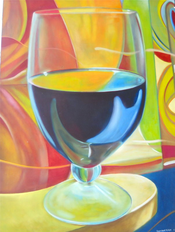 Oil painting last glass by Timothy Innamorato