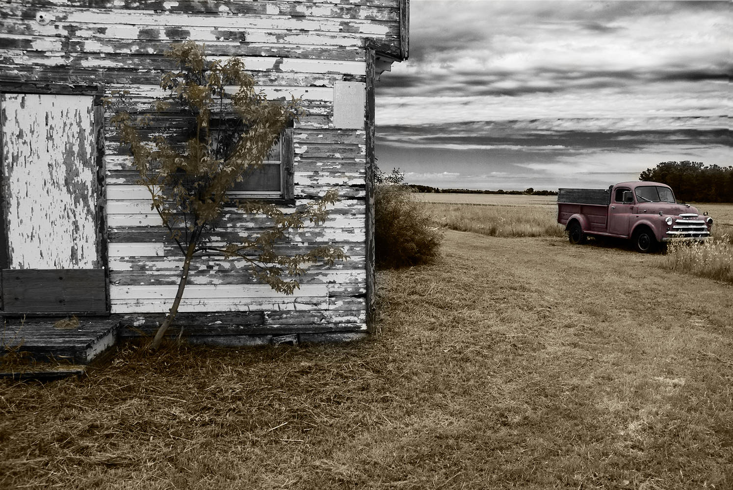 Weathered Store & Truck by Jim Friesen