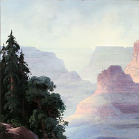 Oil painting  Grand Canyon by Lavetta Rhinehart