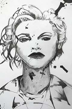 Drawing Madonna by Clayton King
