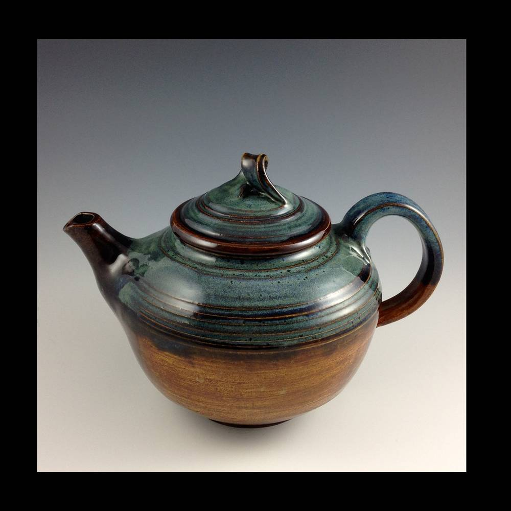teapot blue series 2014-008 by Elaine Clapper