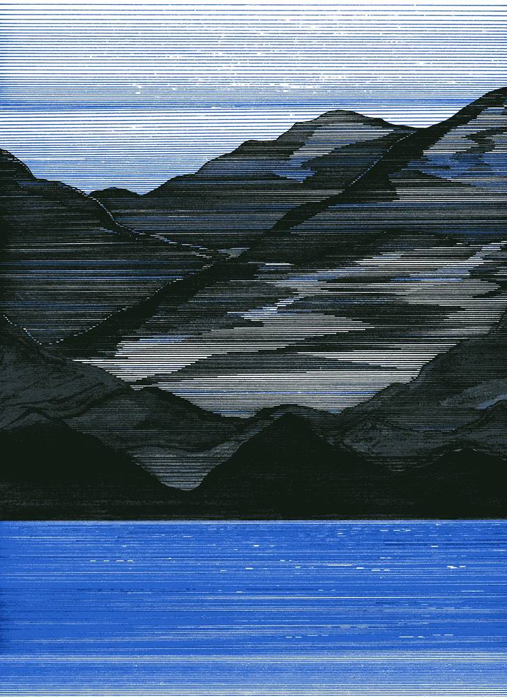 Drawing West Coast Blues Study No 1 by Lawrie  Dignan