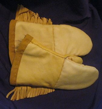 Leather Mitts (back) by Clayton King