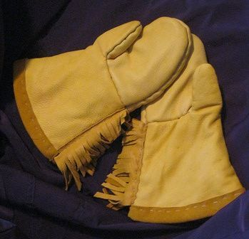 Leather Mitts (front) by Clayton King