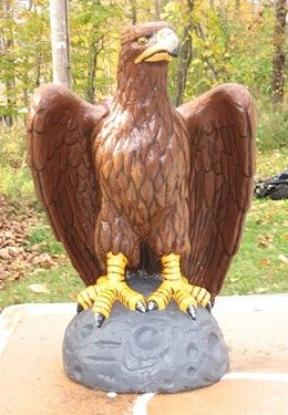 Acrylic painting Eagle Statue Restoration After by Clayton King