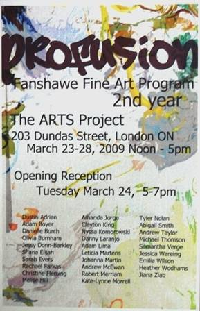 Profusion Exhibition Poster  by Clayton King