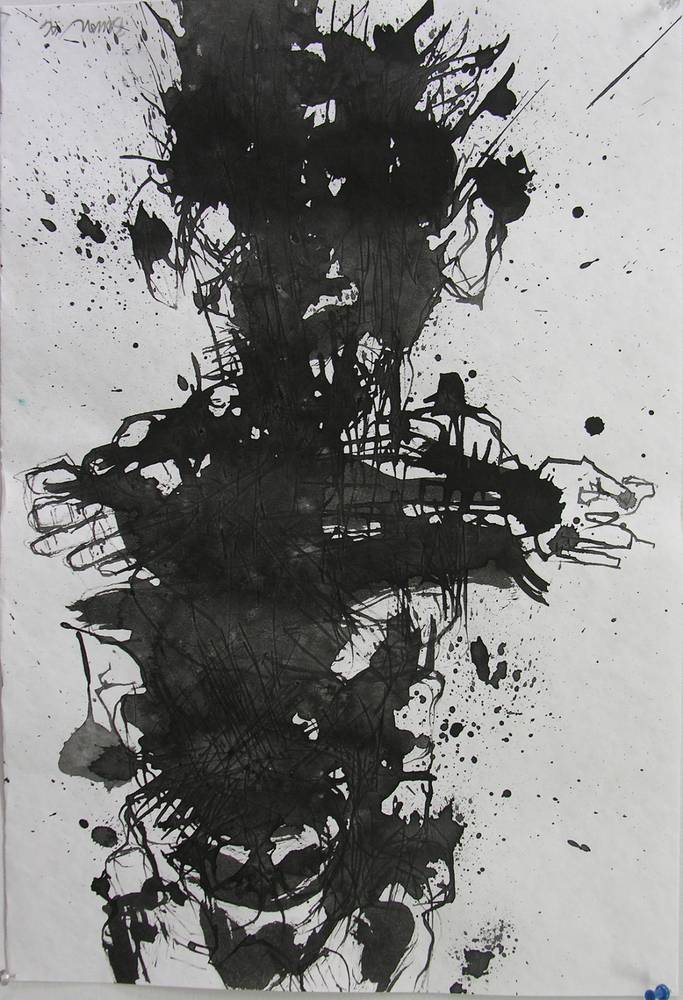 standing figure 2, 2006; ink on paper by Peter Barron