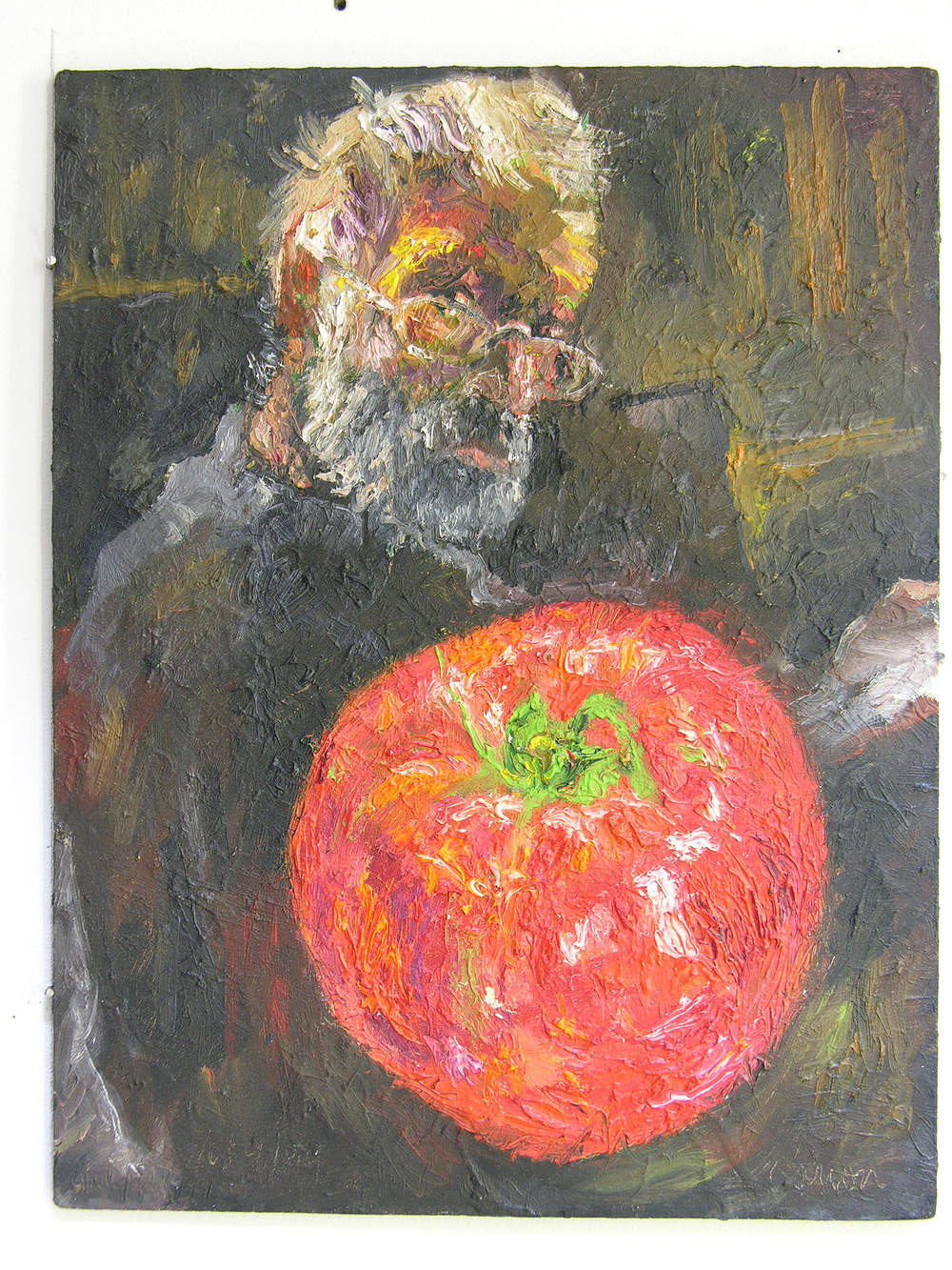 Night Reflection 2 (with Tomato) by Peter Barron