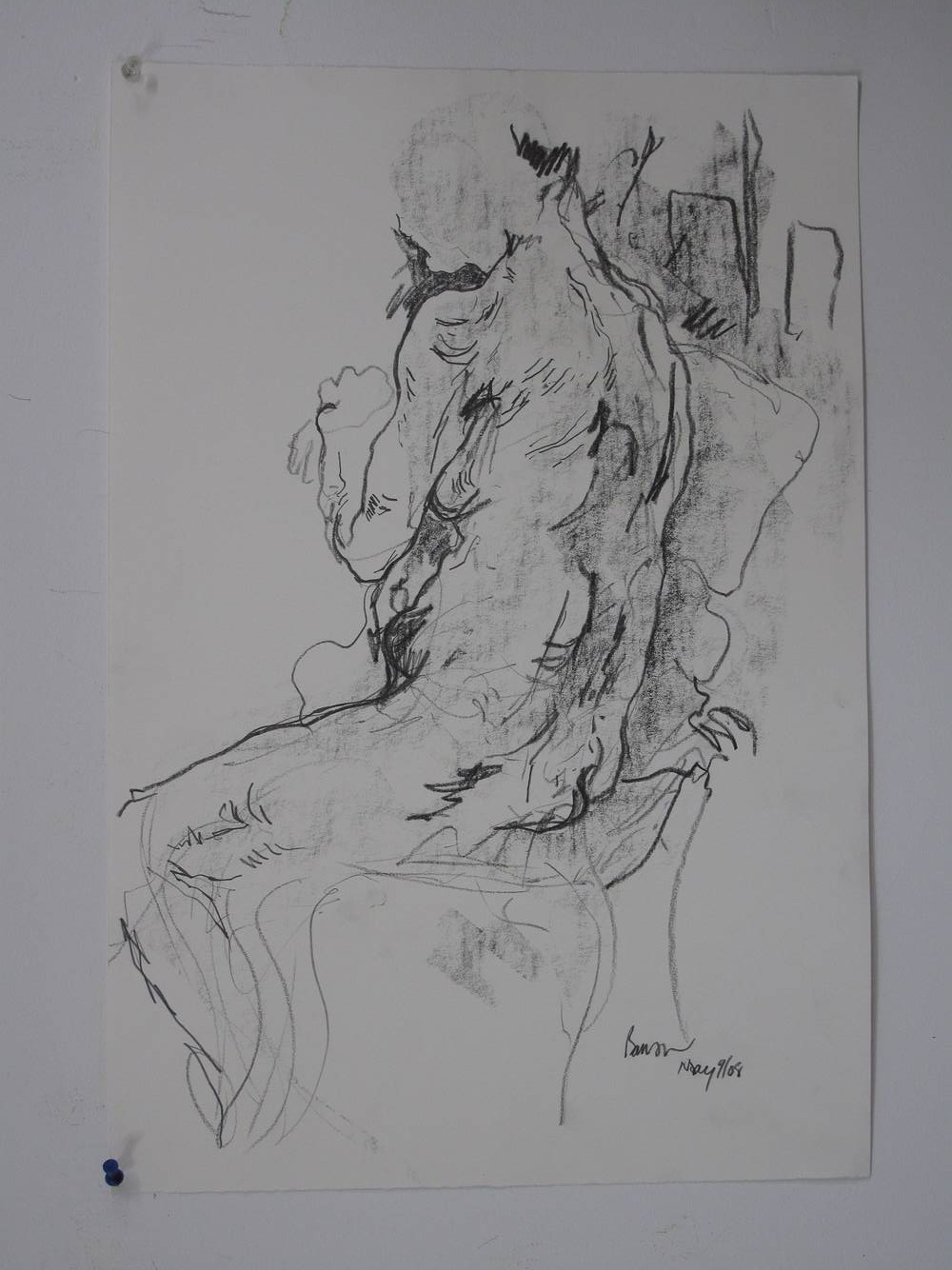Seated nude by Peter Barron
