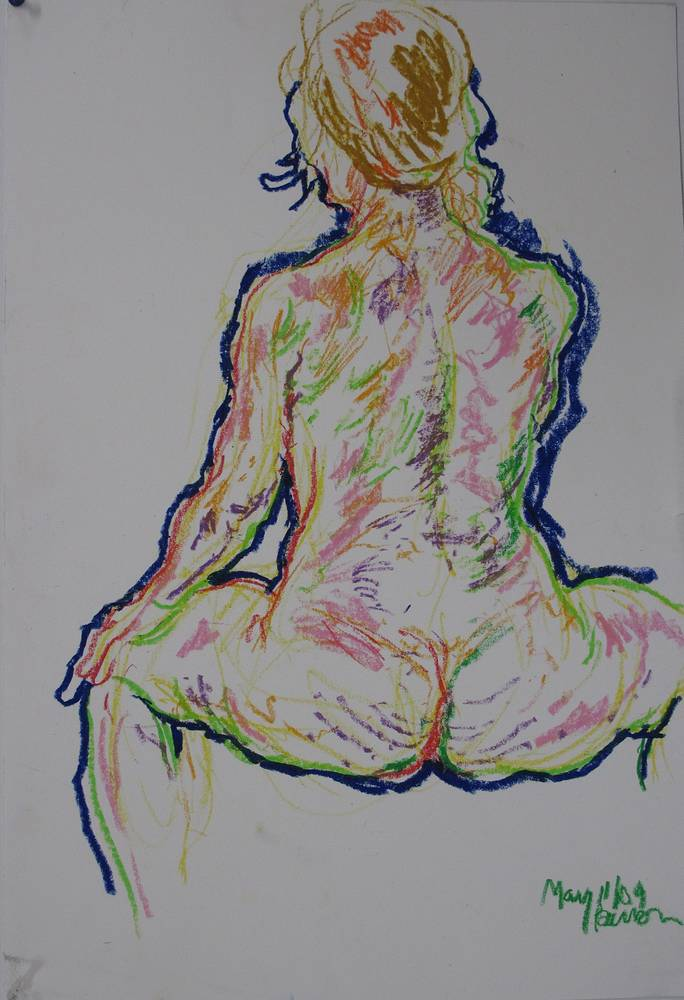seated female rear view '09 by Peter Barron