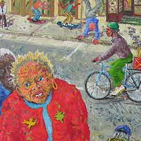 On The Street, 2004, oil by Peter Barron