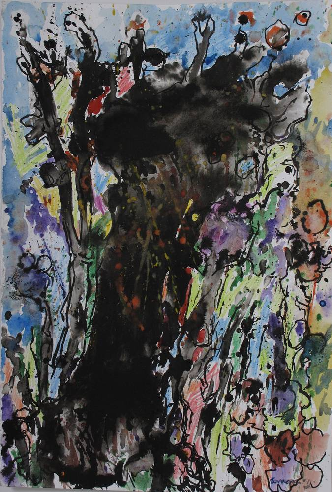old tree wc,ink '11 by Peter Barron
