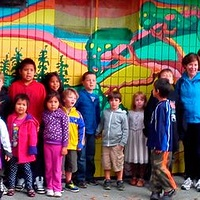 Group shot in front of park murals! by Yvonne Vander Kooi