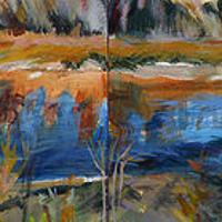 Acrylic painting Sprucewood River by Shawn Jordan