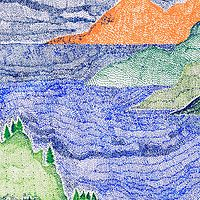 Drawing Stormy Okanagan 2 by Lawrie  Dignan