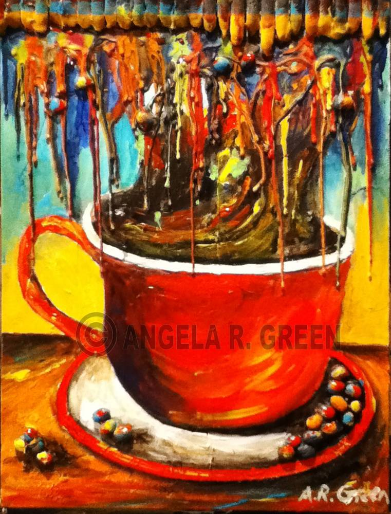 Painting Rainbow Cappuccino by Angela Green