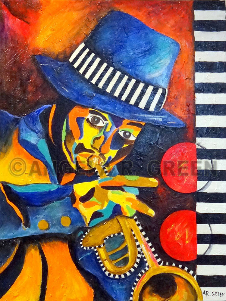 Acrylic painting Jazz Rhythms II by Angela  Green