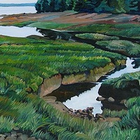 Oil painting Pottery Creek by Michael McEwing