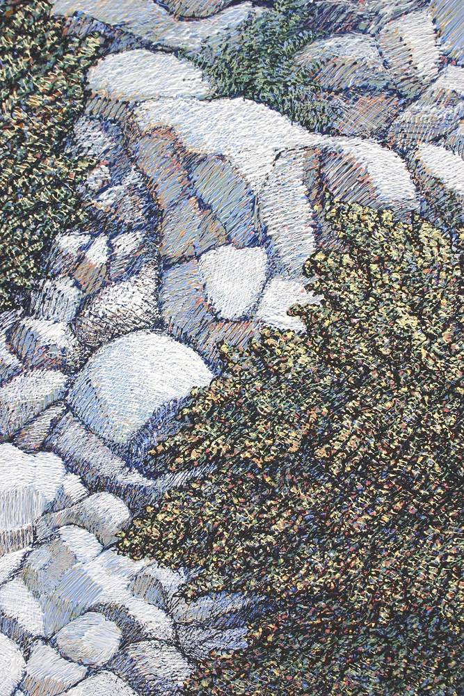 scree detail2 by Douglas Moulden