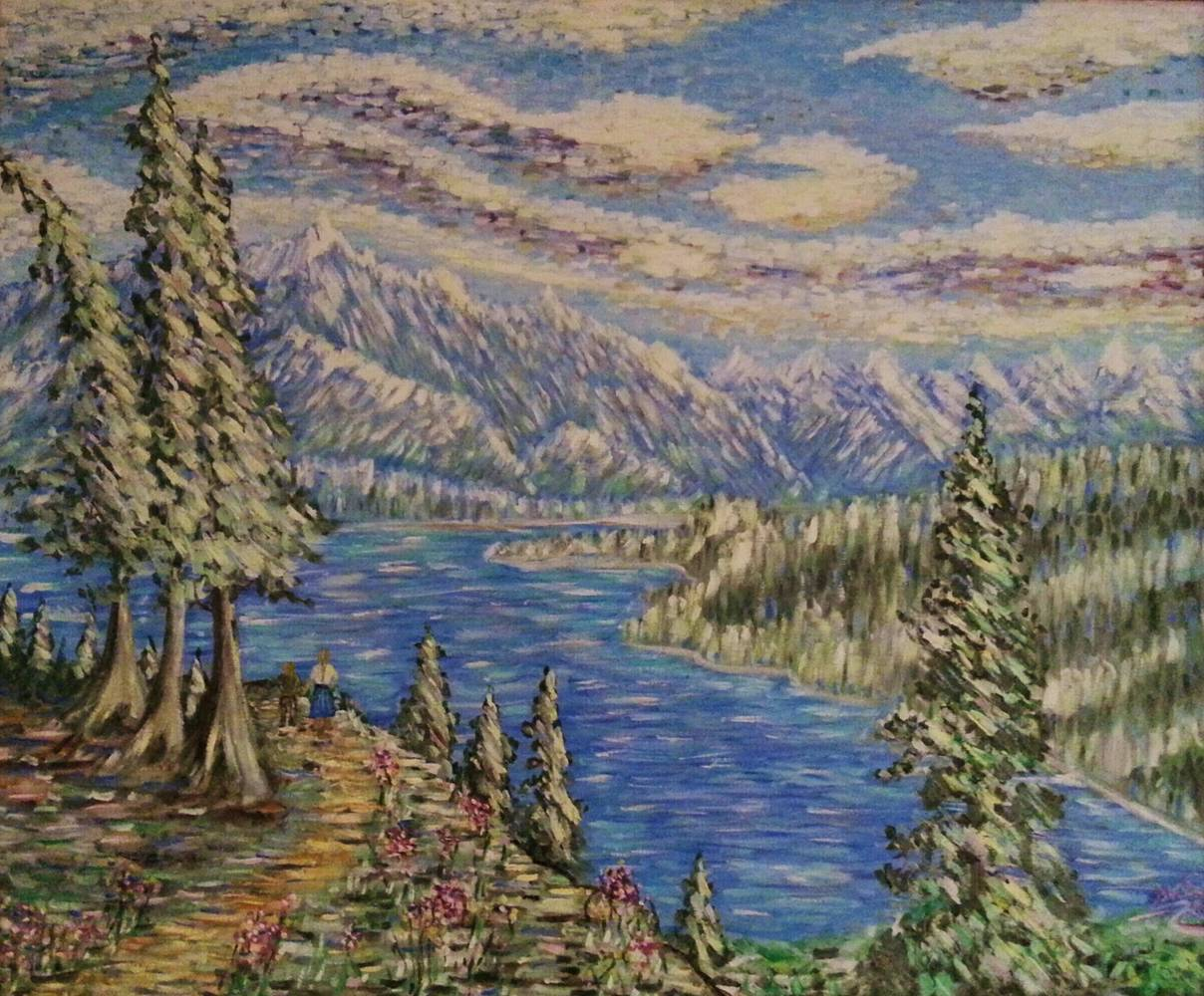 Oil painting Burnaby Mountain Park-Vancouver,B.C. by Gary Doll