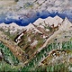 Oil painting Valhalla Mountains-New Denver,B.C. by Gary Doll