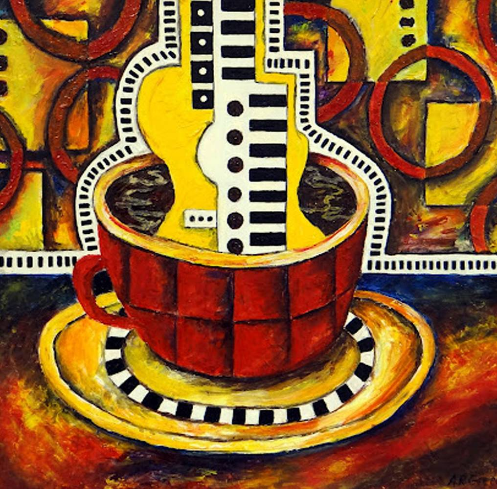 Painting Coffee Anyone II by Angela  Green