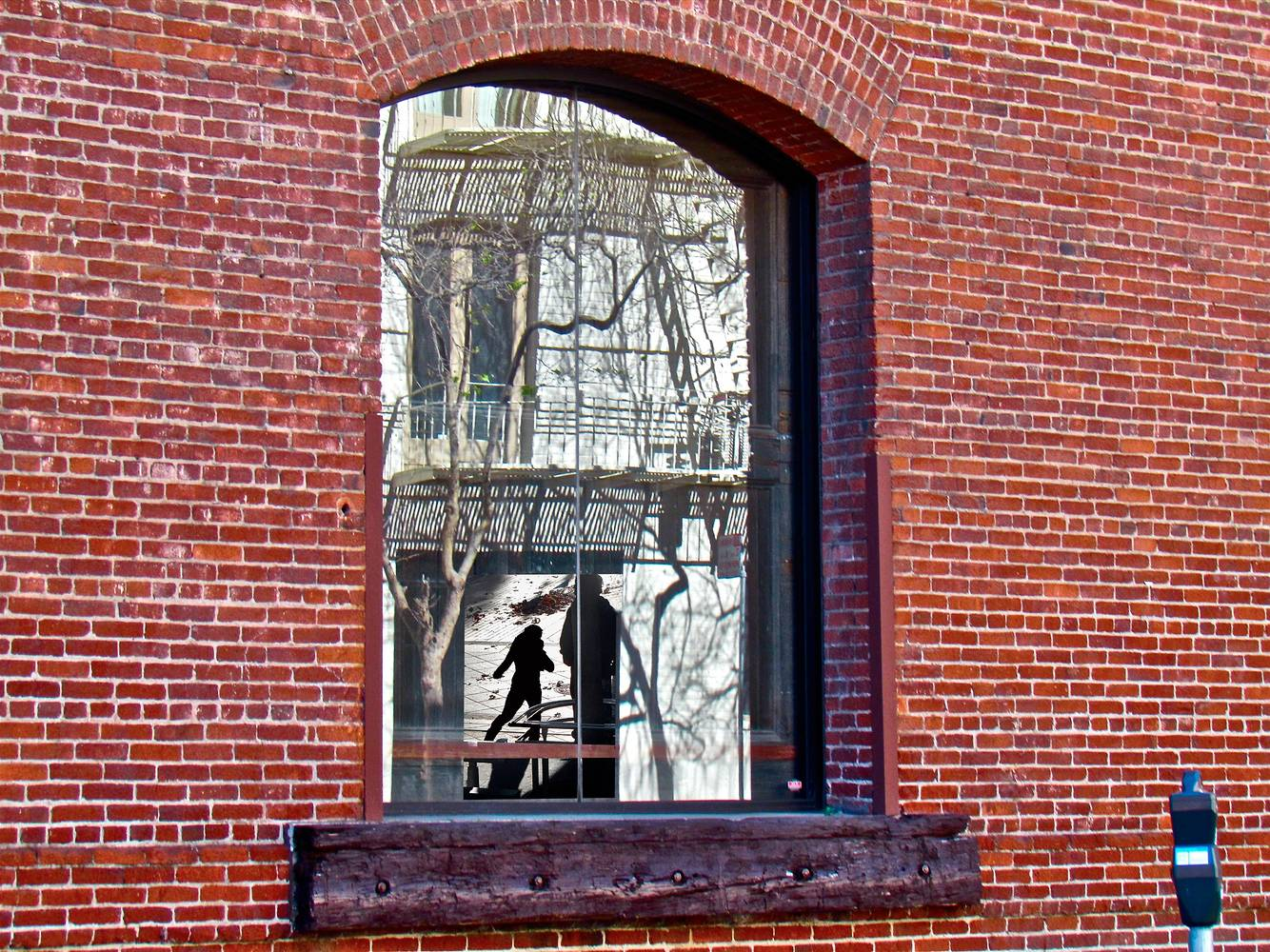 CRIME REFLECTION-IN THE WINDOW by Joeann Edmonds-Matthew