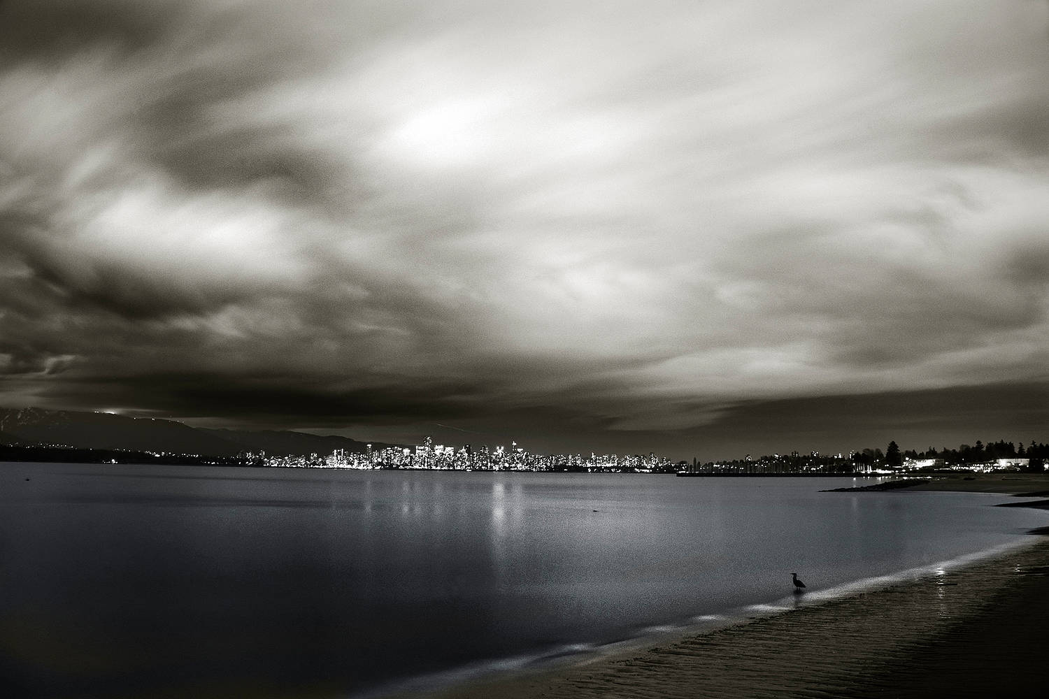 Night Clouds - Vancouver 1 by Jim Friesen