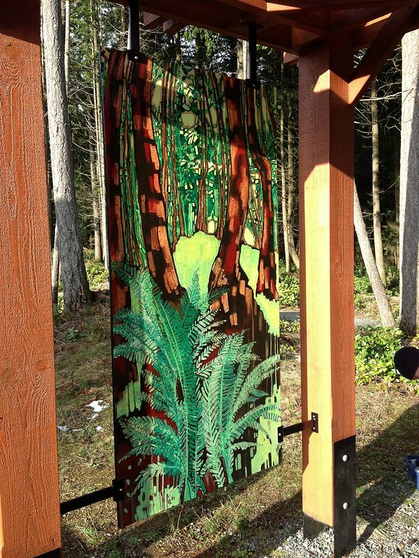 Forest & Floor Panel by Yvonne Vander Kooi
