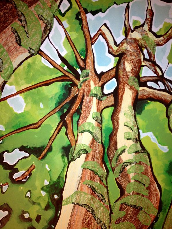 Painting Tree Panel - detail by Yvonne Vander Kooi