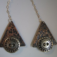 Earrings, Sterling silver earwires by Susan Parrish