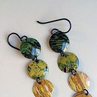 Earrings, Black Niobium wires by Susan Parrish