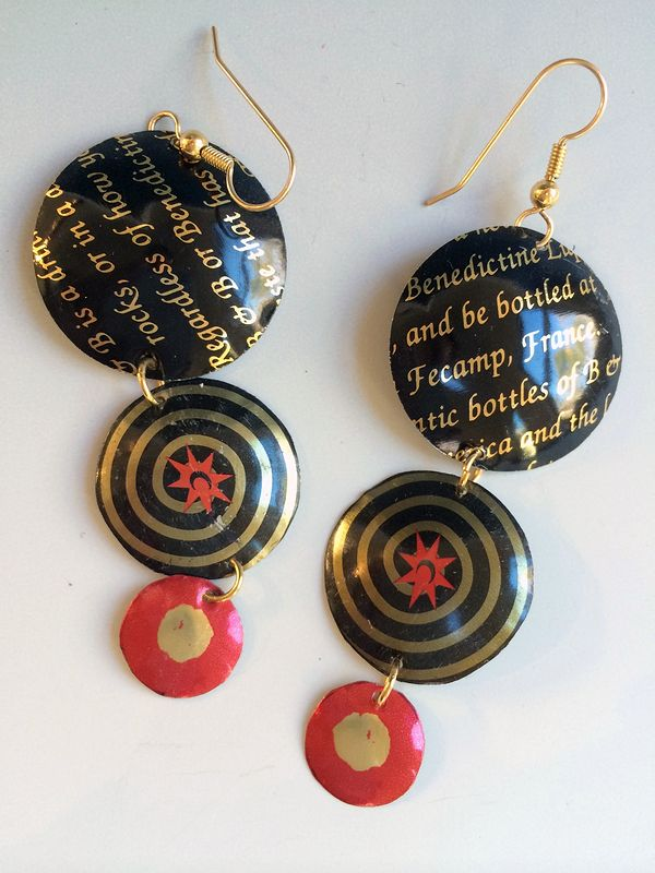 Earrings, gold filled wires by Susan Parrish