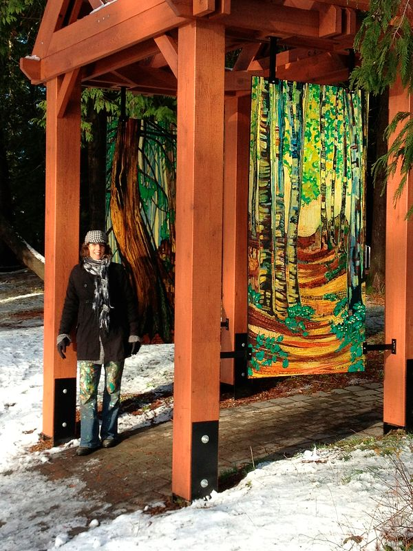 Painting Oliver Woods Public Project by Yvonne Vander Kooi