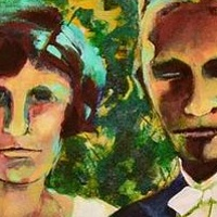 Painting Opa & Oma Wedding Day - incomplete by Yvonne Vander Kooi