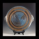 14 inch plate blue w handles series 2014-020 by Elaine Clapper