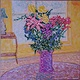Oil painting SummerTime Flowers-Artist's Home,Kelowna,B.C. by Gary Doll