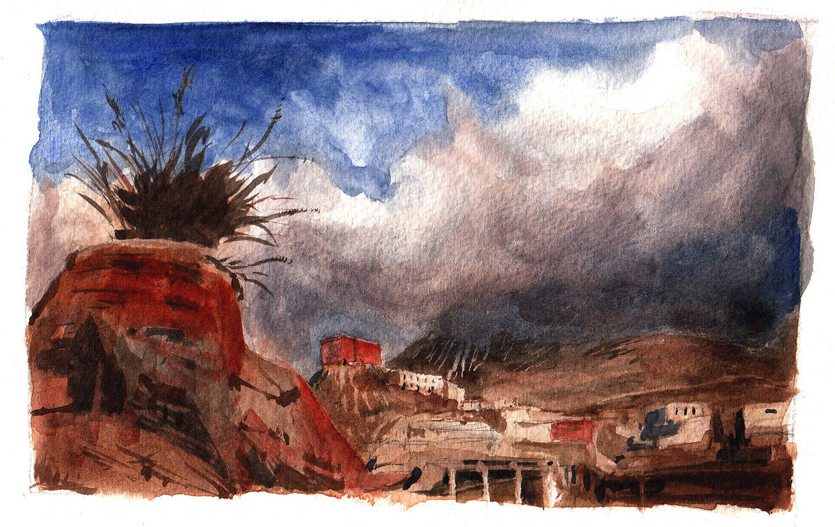 Watercolor Jharkot by Hendrik Gericke